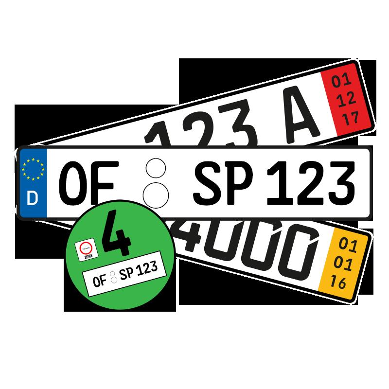 Autoschilder Frankfurt